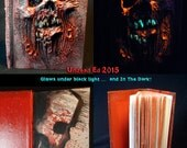 Necronomicon Plague Book of the Dead 4X6 250 paged Sketch Book by Undead Ed Glows in the Dark