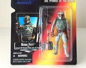 Star Wars Boba Fett Action Figure, Empire Strikes Back - 1995 POTF Kenner Star Wars Figure - Vintage Star Wars Toy - Bounty Hunter