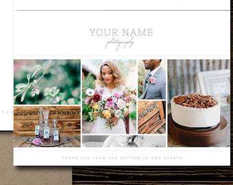 Thank You Card Templates - Photography Thank You Cards - Wedding Planner Marketing Templates - Photoshop Templates
