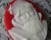 Santa Claus Soap, Saint NICHOLAS Soap, St Nick, Father Christmas, Handcrafted, Cameo, Christmas, Red and White, Green and White,SKIRTeam,FRU