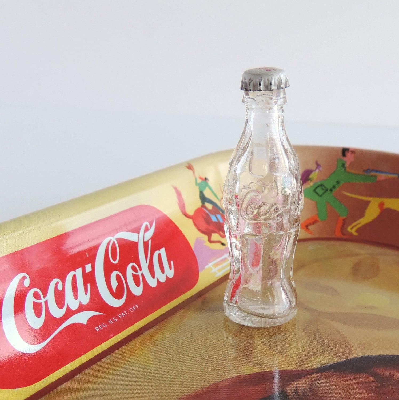 Vintage Miniature Coca-Cola Soda Pop Bottle 1980s Coke