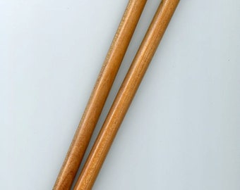 Surina Fine Wood Single Point Knitting Needles 10 inch Size US 15 10mm (1 Pair)