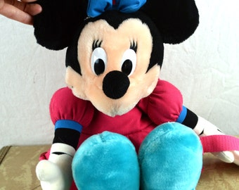 Vintage 80s 90s Mickey Minnie Mouse Cute Fun Small Disney Backpack