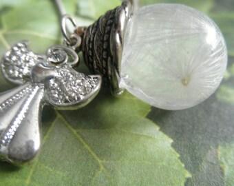 Protection-Milk Thistle Seeds Guardian Angel Resin Orb Reliquary Terrarium Pendant-Symbolizes Protection-Unique Nature's Art-Gifts Under 35