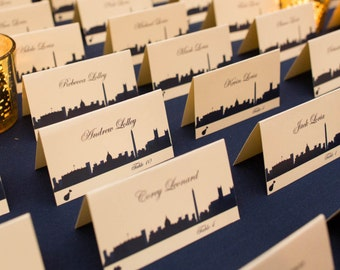 Washington DC Place Card Skyline Handmade Custom Personalize Wedding Bridal Sign Table Setting Escort