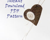 PDF Fiber Arts How-To Pattern Instruction, Dreamcatcher Necklace, Instant Download, Textile Weaving, Woven Jewelry, DIY, How To Weave