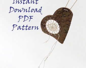 PDF Fiber Arts How-To Pattern Instruction, Dreamcatcher Necklace, Instant Download, Textile Woven Jewelry, DIY, How To Weave, Looping