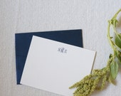 """Personalized Stationery, Personalized Gift, Custom Gift, """"The Charleston"""" Monogram Cards by Dodeline Design"""