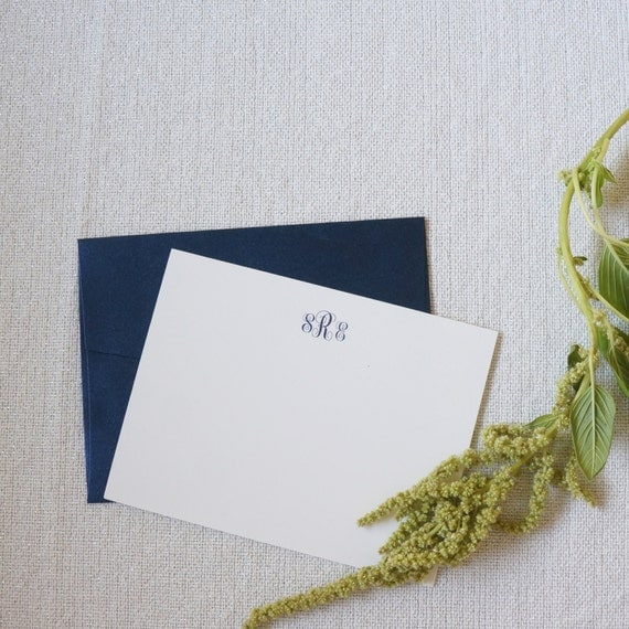 "Personalized Stationery, Personalized Gift, Custom Gift, ""The Charleston"" Monogram Cards by Dodeline Design"