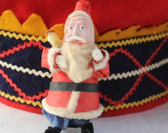 Santa Occupied Japan Clay Composition Face Holding Tree Christmas Ornament VINTAGE by Plantdreaming