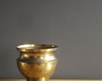 Brass with Class - Large Brass Planter or Urn - Hammered Brass Bowl