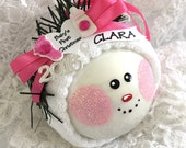 BABY'S First 1st Christmas 2016 Ornament  - Personalized Christmas Ornament - Baby Shower Gift – Baby Girl's First Christmas Ornament