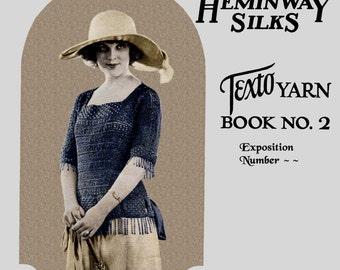 Heminway Silk Crochet #2 c.1921 - The Latest in Crochet (PDF Ebook - Digital Download) Plus Free Bonus Pages