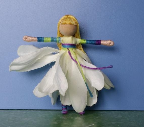 Tie dye Flower Fairy Doll, Art Doll, Worry Doll, Faery, elemental