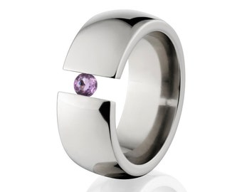 Uniquely You- Tension Set- Amethyst- Ring-   8HR-P-Tension