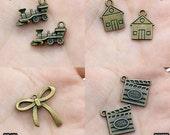 Big Sale-Antiqued Vintage Charms / Pendants (28366/28373/28401/28372)-Clearance Sale