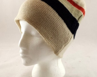 Vintage Wool Winter Hat. 100% Wool. Itchnomo by Swing West. Child Large/ Adult Small. Beanie, Ski Hat. Snowboard Hat. VGC French Winterwerar