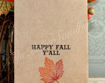 25 Happy Fall Y'all Printed Favor Bags, Fall Party Favor Bags, Candy Bags, Treat Bags, Goodie Bags, Silverware Bags, Party Supplies