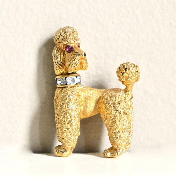 Napier vintage poodle pin