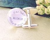 Father of the Groom Personalized Wedding Cuff links Ready To ship Bridal Party Gifts Wedding Keepsake Gift For Him In Laws Father In Law