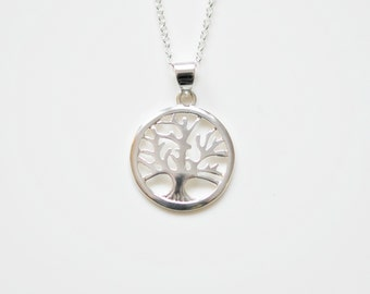 Tree of life necklace, sterling silver tree, family tree, wisdom, protection, strength, beauty, symbolic, mother, gift for mom - Aspen