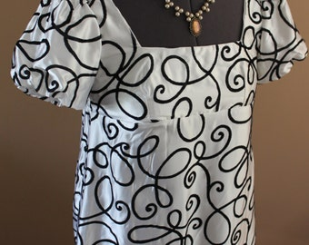"Bust 40"" - 45"" Copper Regency Dress Victorian Renaissance Gown Medieval Jane Austen"