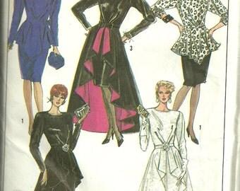 Simplicity Sewing Pattern 8899 Size 12 Misses Dress 2 Length Detachable Peplum UC