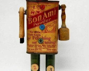 Assemblage Art Doll Vintage Bon Ami Character