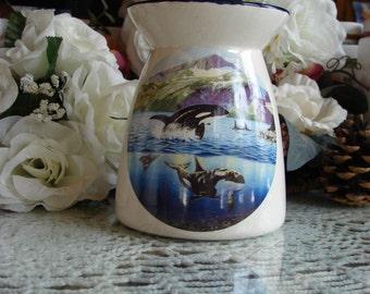 Orcas! Ceramic Tea Light Tart Burner