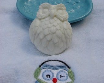 Owl Lovers Soap Dish & Shea Butter Owl Soap!
