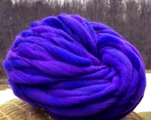 Super bulky handspun yarn, 53 yards and 3 ounces/86 grams, spun thick and thin in merino wool