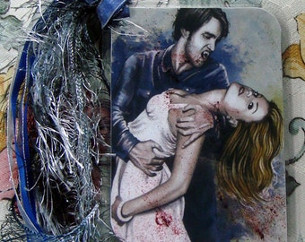 Sookie is mine  - True Blood Traditional Art Watercolor Painting - Laminated bookmark with ribbons