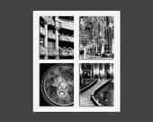 SALE, Paris Prints, Opera House Photos, Paris Opera, Set 4 Prints, Black White Prints, Architecture, 4 Photo Set