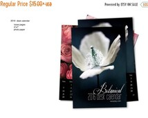 2016 Calendar, Flowers in Bloom, 2016 Desk Calendar, Loose Page, Photography Calendar, Cyber Monday Sale