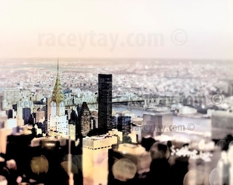 New York Prints, NYC Skyline Photos, Chrysler Building, Black Pastel Wall Art New York City Art Prints Manhattan Skyline Prints NY Photos
