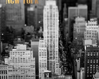 New York City Prints, Black White Photos, Prints Gold Text, Manhattan Photos New York Prints NYC Aerial Prints New York Photography