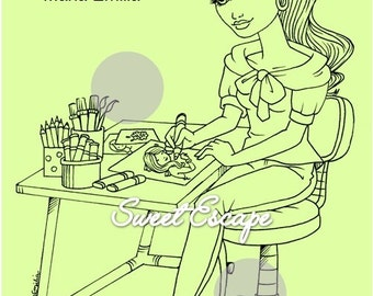 Coloring Time (Digital Coloring Page)