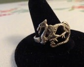 Reserved for Bonnie STERLING DRAGON RING Size 11 Fantasy Celtic