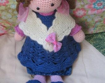 Lovely crochet amigurumi girl doll