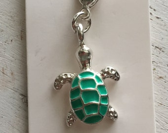 Turtle Charm with Lobster Claw Clasp
