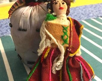 Two Folk Art Dolls