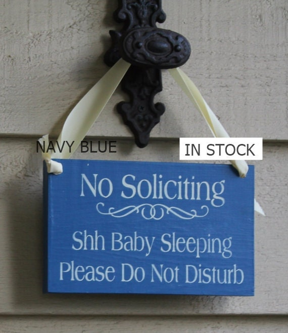 No Soliciting/Baby Sleeping/ Please Do Not Disturb Sign/YOU Choose Color/Wood Sign/Outdoor Sign/Front Door Sign/Ready to Ship