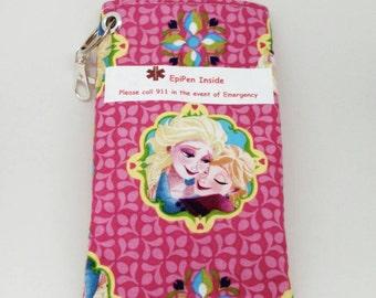 Kids EpiPen or Insulin Case Pouch Wallet Water Resistant Meds Bag Choice of Alert Label