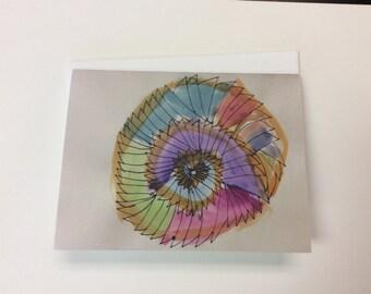 Spiral Greeting Card, single card