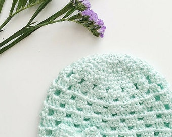 The Chloe Cloche Hat, Crochet Cloche Hat, PDF Pattern, Baby Girl Hat, Spring Baby Hat, Summer Cloche, Crochet Pattern, Bow Beanie