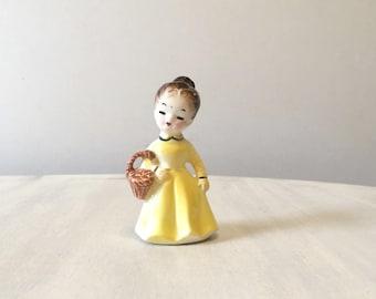Vintage girl figurine, vintage figurine, ceramic figurine, porcelain figurine, collectible figurine, porcelain girl, retro girl  figurine,
