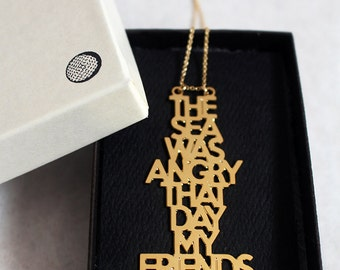 Sea Was Angry Necklace