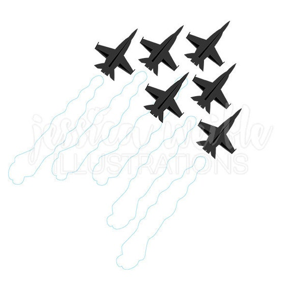 jets in formation silhouette digital clipart military clip art rh catchmyparty com clipart plane with banner clipart lines