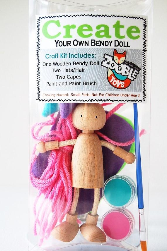 Kids Craft Kit Easter Basket Create A Bendy Doll Kit