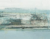 GICLEE Abstract Print on paper LARGE,abstract landscape,blue,white charcoal,tkafka,tracey kafka